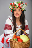 Girl in Ukrainian costume Royalty Free Stock Image