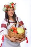 Girl in Ukrainian costume Stock Photos