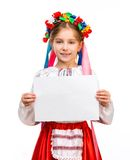 Girl in  Ukrainian  costume Royalty Free Stock Photography