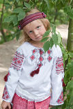 Girl in ukrainian costume2 Stock Photography