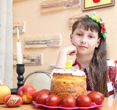 Girl in Ukrainian embroidery Royalty Free Stock Photos