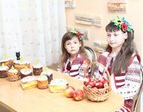 Girl in Ukrainian embroidery Stock Image