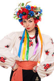 Girl in the Ukrainian national clothes Royalty Free Stock Photography