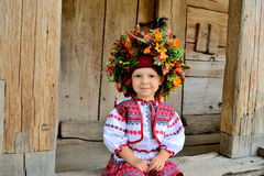 Girl in the Ukrainian national clothes Royalty Free Stock Images