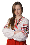 Girl in Ukrainian national costume Royalty Free Stock Images