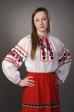 Girl in Ukrainian national costume Royalty Free Stock Photos