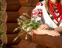 The girl in the Ukrainian national costume Royalty Free Stock Images