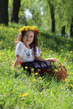 Girl in the Ukrainian national costume. Stock Photos
