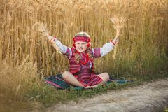 Girl in the Ukrainian national costume Royalty Free Stock Photography