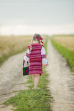 Girl in the Ukrainian national costume Royalty Free Stock Photos