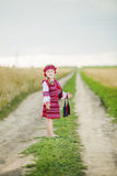 Girl in the Ukrainian national costume Stock Image