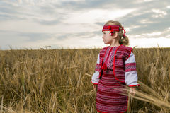 Girl in Ukrainian national costume Royalty Free Stock Image