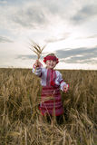 Girl in Ukrainian national costume Stock Images