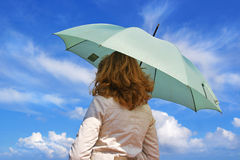 Girl with an umbrella Royalty Free Stock Photos
