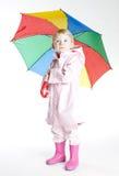 Girl with umbrella Stock Photos