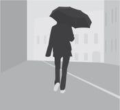 Girl with umbrella Stock Image