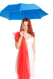 The girl and  umbrella Stock Photo