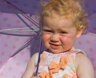 Girl with umbrella stock photography