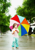 Girl with the umbrella Royalty Free Stock Photography