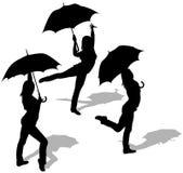 Girl And Umbrella Royalty Free Stock Photos