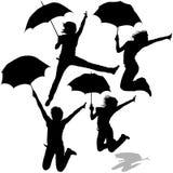 Girl And Umbrella Royalty Free Stock Photography