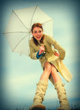 Girl and umbrella Royalty Free Stock Photos