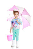 Girl with umbrella Stock Photos