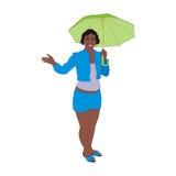 Girl umbrella Stock Photo