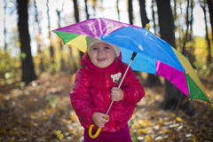 Girl with umbrella Royalty Free Stock Photography