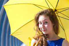 Girl umbrella Royalty Free Stock Photos