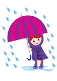 Girl with an umbrella Royalty Free Stock Photography
