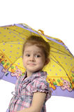 The girl with an umbrella Stock Photography