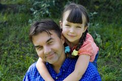 Girl with uncle Royalty Free Stock Photos