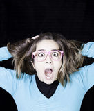 Girl uncontrolled crazy Stock Photos