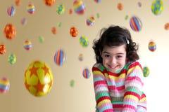 Girl Under Eggs stock images