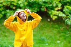 Girl under rain Stock Image