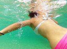 Girl under water Royalty Free Stock Photography