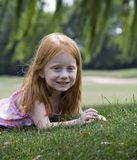Girl under Willow Stock Photos