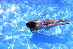 Girl Underwater 2. Girl in bikini underwater Stock Images