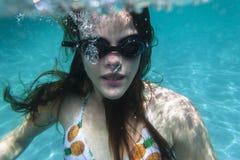 Girl Underwater Pool Royalty Free Stock Photos