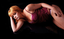 Girl in underwear Royalty Free Stock Photos