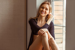 Girl in underwear Royalty Free Stock Photography