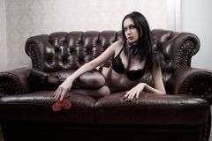 Girl in underwear Stock Image