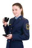 Girl in uniform Stock Image