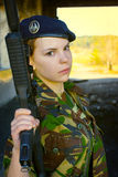 Girl in uniform Stock Images
