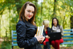 Girl in University Campus Stock Image