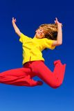 Girl up in the air Royalty Free Stock Image