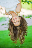 Girl upside down Royalty Free Stock Photos