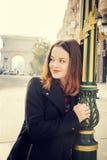 Girl in urban city Stock Photo