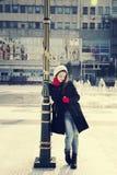 Girl in urban city Royalty Free Stock Photos